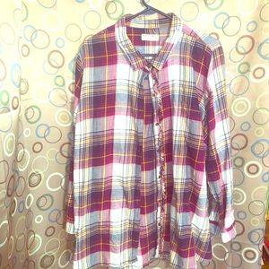 Ruff Hewn Size 3x Button Down Plaid Shirt